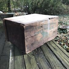 Primitive Antique Tobacco Crate Wood Box Marburg Bros Greenback Smoking Tobbaco