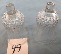 Votive Cups Set of 2 Homco Home Interior Crystal Clear Glass Diamond Base Design