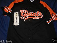 San Francisco Giants Black Sewn Starter Baseball Jersey L Vintage Black Orange