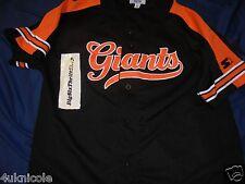 San Francisco Giants Black Sewn Starter Baseball Jersey L Vintage Black Orange
