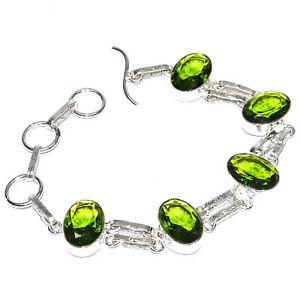 """Peridot 925 Sterling Silver Jewelry Bracelet 7-8"""""""