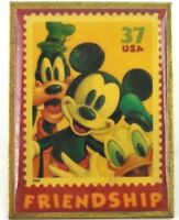 Disney USPS Pin The Art of Disney Stamp Goofy Mickey Mouse & Donald Duck