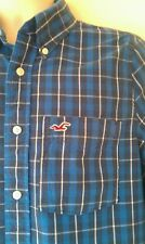 MENS HOLLISTER SHIRT SZ L IN GOOD CONDITION, BLUE,CHECKED