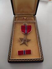 (119) Original WWII USA Bronze Star  ab 1941 ...im Etui Typ III