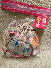New Valentine's Animal Stickers Foam Cat Dog Bear Hearts, 150 pieces