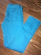 Women's RAG & BONE Bright Blue Colored Skinny Leg Capri Jeans - Size 26""