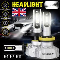 2x NovSight H4/H7/H11 50W 10000LM LED Headlight Kit Bulb Headlamps 6500K