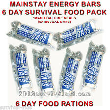 Mainstay™ 1200 Calorie Ration Bars 6 Pack Emergency Food with 5 Year Shelf Life