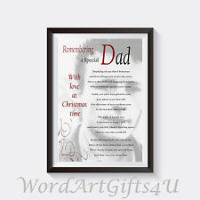 Personalised photo In Loving Memory of Dad  A4 Print Christmas
