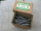 """New Box 144 #10 x 3-1/2"""" Bright Steel Flat Head Wood Screws Slotted So-Hard USA"""