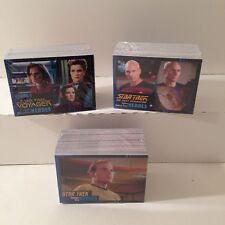 STAR TREK HEROES & VILLAINS Complete Card Sets (ALL THREE) TOS, TNG & VOYAGER