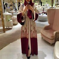 Dubai Gowns Tunic Jubah Arab Islam Ramadan Muslim Abaya Dress Cardigan Long Robe