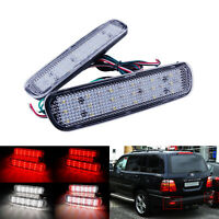 2x LED Rear Bumper Reflector Brake Light For 1998-2007 Lexus LX470 Land Cruiser