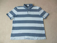 Lacoste Polo Shirt Adult Extra Large Size 8 Blue Vintage Wash Crocodile Rugby *