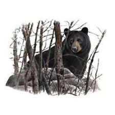 """BEAR, BLACK in the Woods one ONE 18"""" x 22"""" Fabric Panel to Sew. Pic is 11""""x14"""""""
