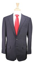 * RING JACKET * Japan Charcoal w/ Pink/Purple Striped 2-Btn Handmade Suit 38R