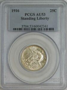 1916 Standing Liberty Quarter 25c AU53 PCGS 944262-2
