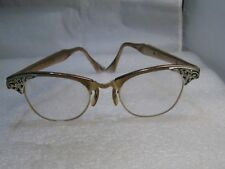 Vintage Eyeglass Frames, Art Craft 1960's  Ladies, 12kt G.F., 4-1/4-5-1/2, Rose