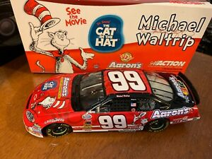 Michael Waltrip Cat In The Hat Nascar 1/24 Action Clear Window Car