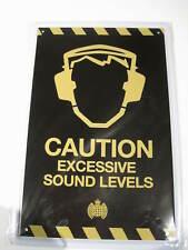REF 112 Cartel Placa Metal 3D 20X30CM 150gr - Caution Excessive sound levels