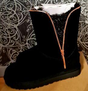 Ugg Australia Lammfell Boots Stiefel Gr 38 Rose  Gold