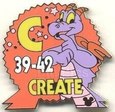 Disney Pin: WDW Cast Lanyard Series #3 Epcot Parking Signs With Figment (Create)
