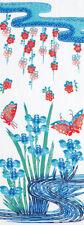 Japanese Tenugui Towel Iris Butterfly Ryukyu TE-275 330 × 900mm MADE IN JAPAN
