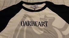 Bacardi Oakheart T Shirt..Bat Logo on Front..Men's Large...Off-white/Black...NEW