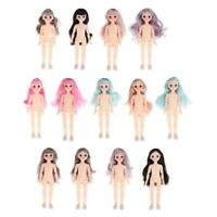 1/6 BJD Doll Body 3D Big Eyes White Skin Girl Dolls Kids Toys DIY Parts