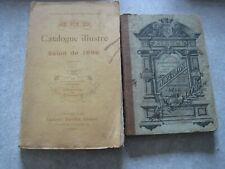 - Lot catalogue illustré salon 1898 + album ornements architecture peillon