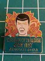 Vintage Star Trek: This Side of Paradise Cloisonne Episode Pin