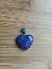Gemstone Pendant (Dyed) Genuine Natural Agate Heart