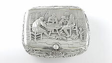 Garrard & Co Vintage Sterling Silver tobacco box-London 1981