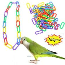 100PCS Plastic C Clips Hooks Chain Links for Sugar Glider Rat Parrot Bird Toy