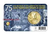2,5 Euros Commémorative Belgique 2020 Coincard - 75 Ans Libération Qualité FDC