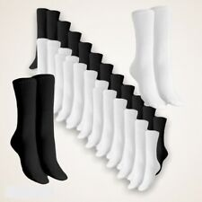 Lot 10 Paires  chaussette sport homme tennis coton blanche ou noir