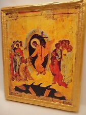 The Resurrection Anastasis Rare Byzantine Eastern Orthodox Icon Religious Art