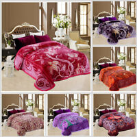 2 Ply Crystal Velvet Plush Mink Blanket Korean Style Printed Heavy Blanket K/Q