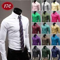 Fashion Mens Luxury Stylish Formal Dress Shirt Slim Fit Casual Shirt Long Sleeve