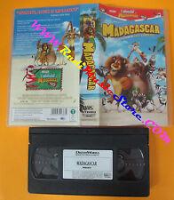 VHS film MADAGASCAR animazione 2005 DREAMWORKS 748302363D01 pinguini(F137)no*dvd
