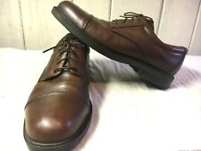 BOSTONIAN STRADA size 13 LEATHER CAP TOE LACE SHOES Excellent Italian VERY RARE