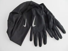 Nike Dri-Fit Women's Running Beanie Glove Set Black/Reflective Silver M/L New