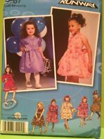 Simplicity Sewing Pattern 2767 Childs Toddlers Girls Dress Project Runway 4-8 UC