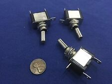3 Pieces  12V White LED Car  Carbon Fiber SPST Toggle Switch Control On/Off c13
