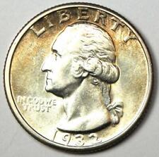 1932-D Washington Quarter 25C - Choice AU / UNC MS Details - Rare Key Date Coin!
