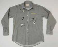 Handcrafted By Mardel Striped Embellished Stage show Rockabilly indie music M