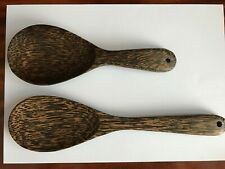 Premium Coconut Wooden Ladle Spoon Kitchen Tools Handmade 2 pieces small,large