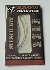 W7 Brow Master 4 Eyebrow Stencils Defined Shaped Reusable