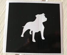 X5 Staffordshire Bull Stencil Glass Craft Etched Vinyl Sticker Silhouette Dog