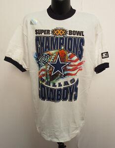 DALLAS COWBOYS LARGE SHIRT VINTAGE RETRO SUPER BOWL XXX NFL FOOTBALL STARTER